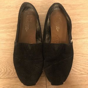 Women's Black & Blue Corduroy Toms